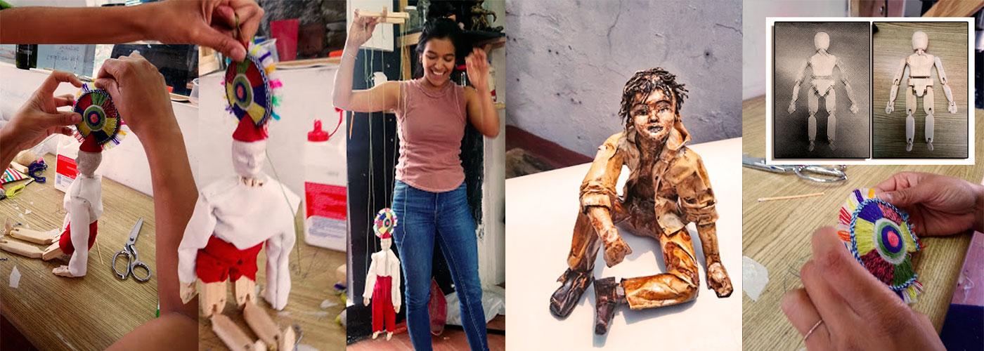 Curso de marionetas, escultura impartidos por el Artista Roberto Jiménez