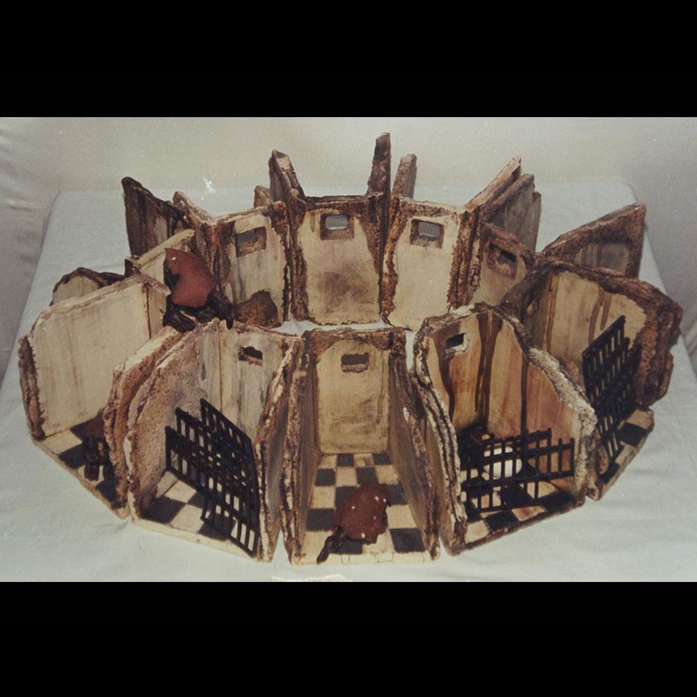 """Cerámica, Claustro """"Anunciación 3"""" de la Expo Alto Contraste del Artista Plástico Roberto Jiménez Hidalgo"""
