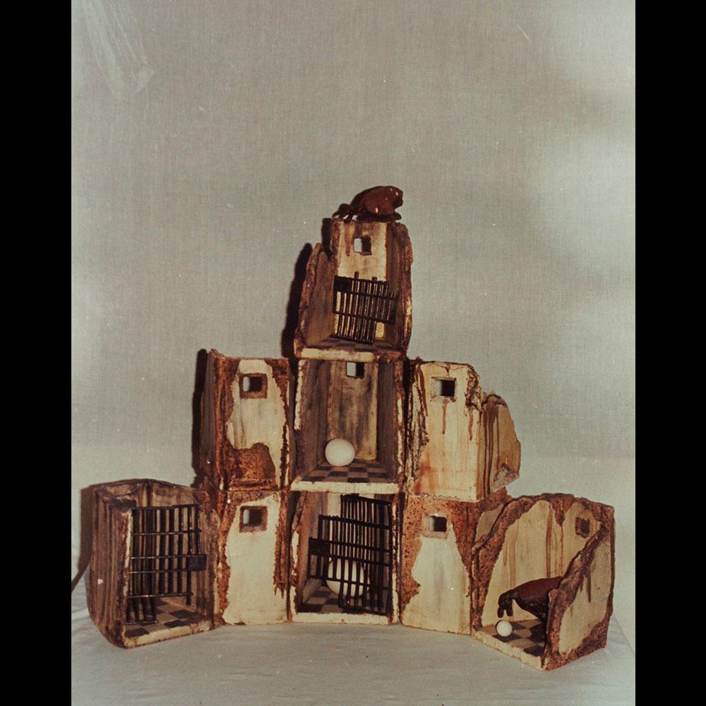 """Cerámica, Claustro """"Anunciación 6"""" de la Expo Eterno Espacio del Artista Plástico Roberto Jiménez Hidalgo"""
