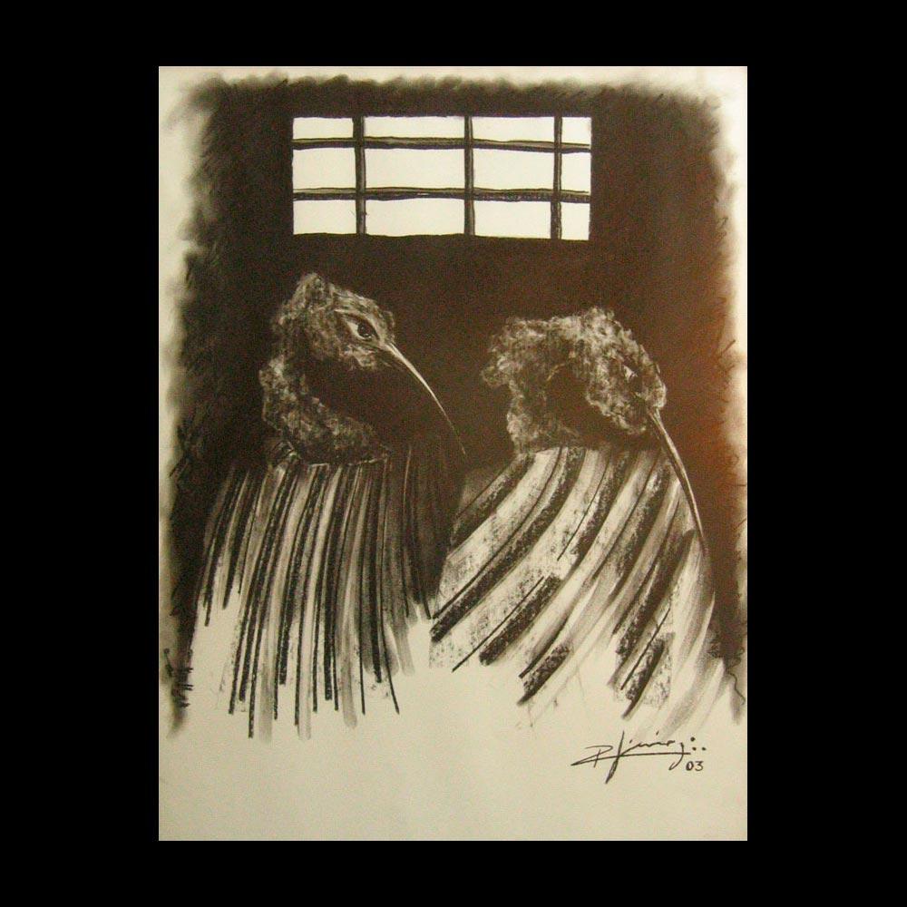 Dibujo Carboncillo 1 Liberfreeden Obra del Artista Roberto Jiménez