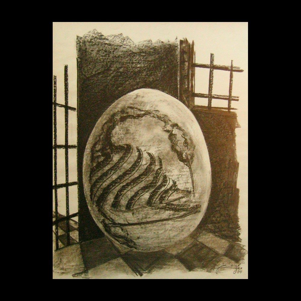 Dibujo Carboncillo 10 Liberfreeden Obra del Artista Roberto Jiménez