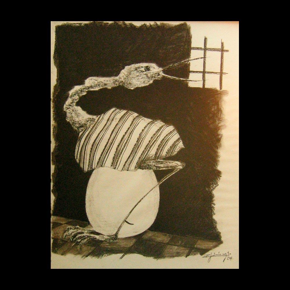 Dibujo Carboncillo 11 Liberfreeden Obra del Artista Roberto Jiménez
