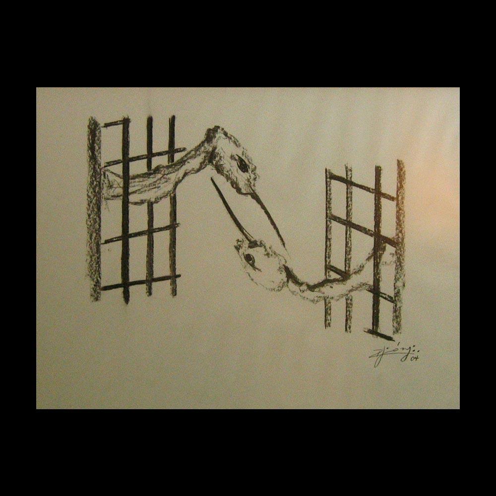 Dibujo Carboncillo 13 Liberfreeden Obra del Artista Roberto Jiménez