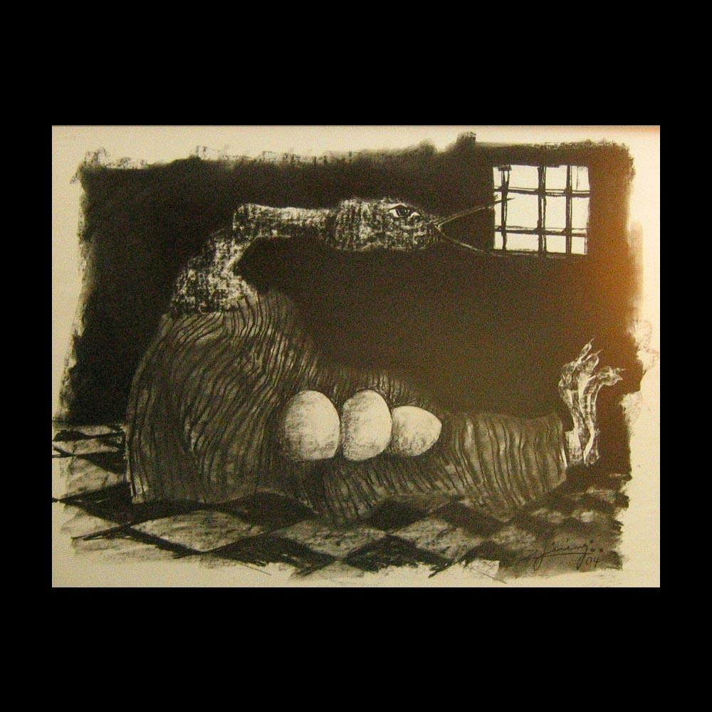 Dibujo Carboncillo 14 Liberfreeden Obra del Artista Roberto Jiménez