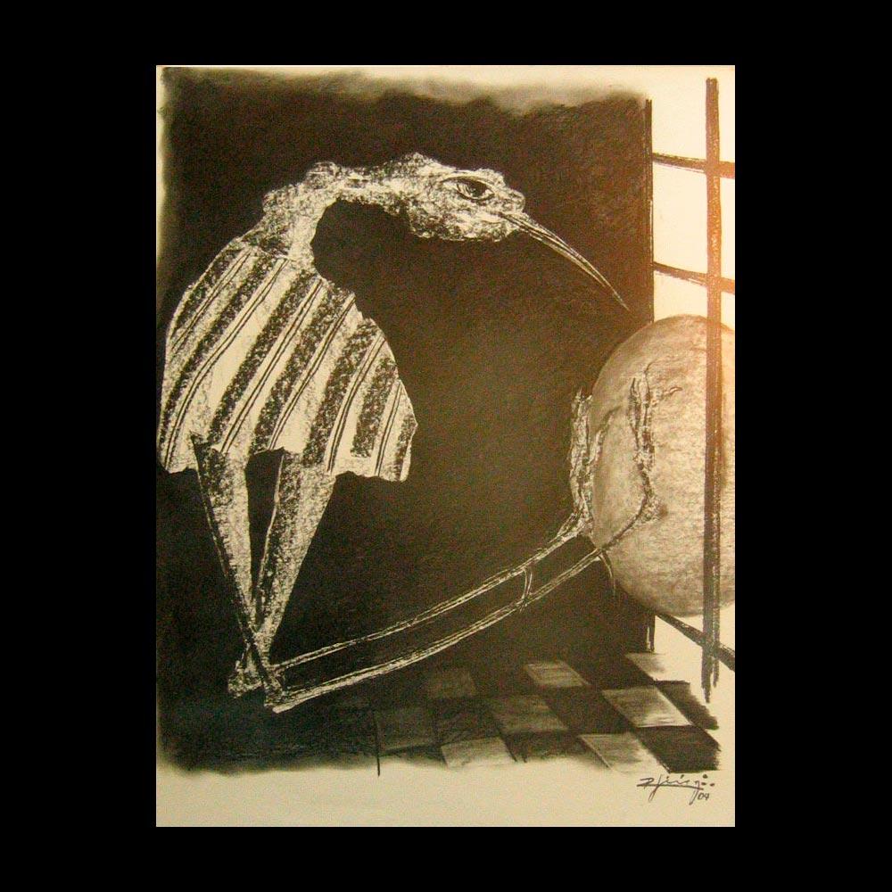 Dibujo Carboncillo 15 Liberfreeden Obra del Artista Roberto Jiménez