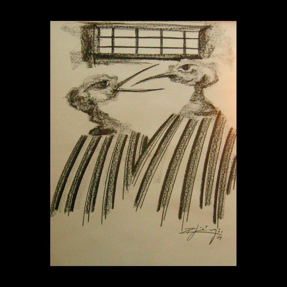 Dibujo Carboncillo 16 Liberfreeden Obra del Artista Roberto Jiménez