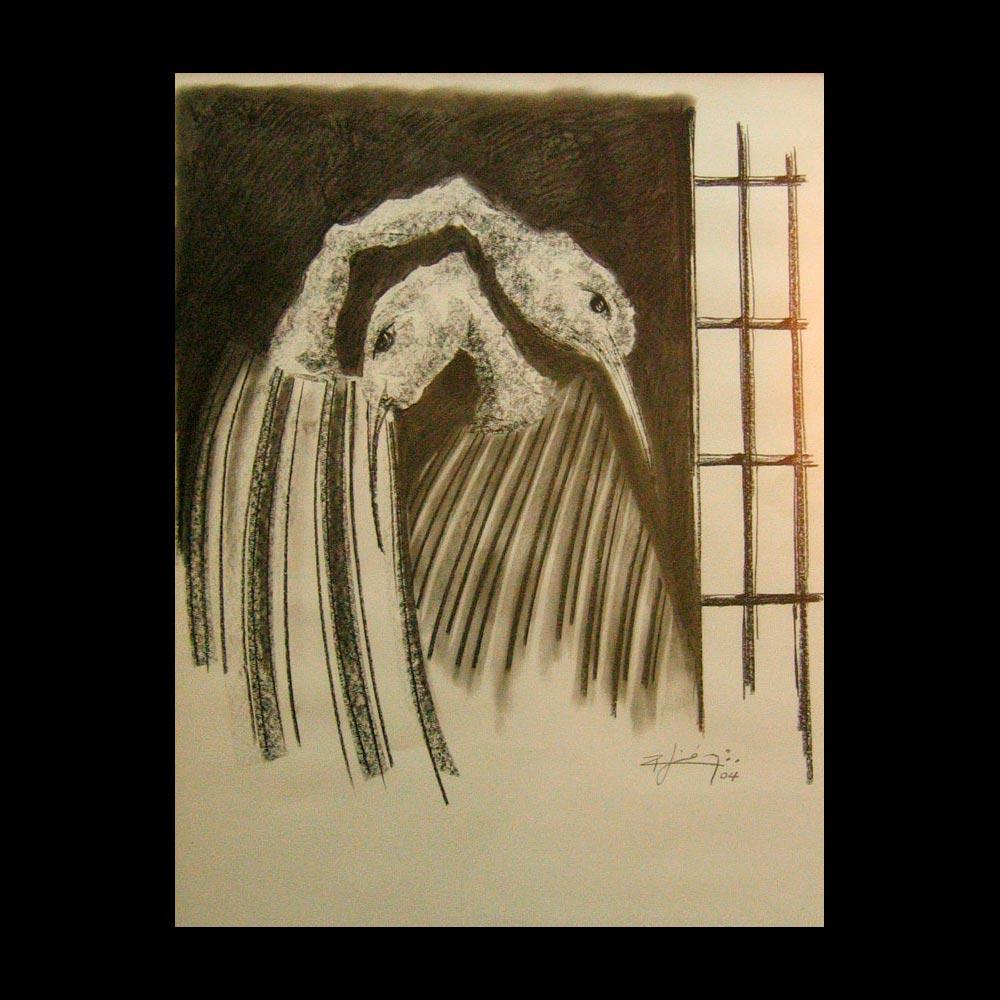Dibujo Carboncillo 17 Liberfreeden Obra del Artista Roberto Jiménez