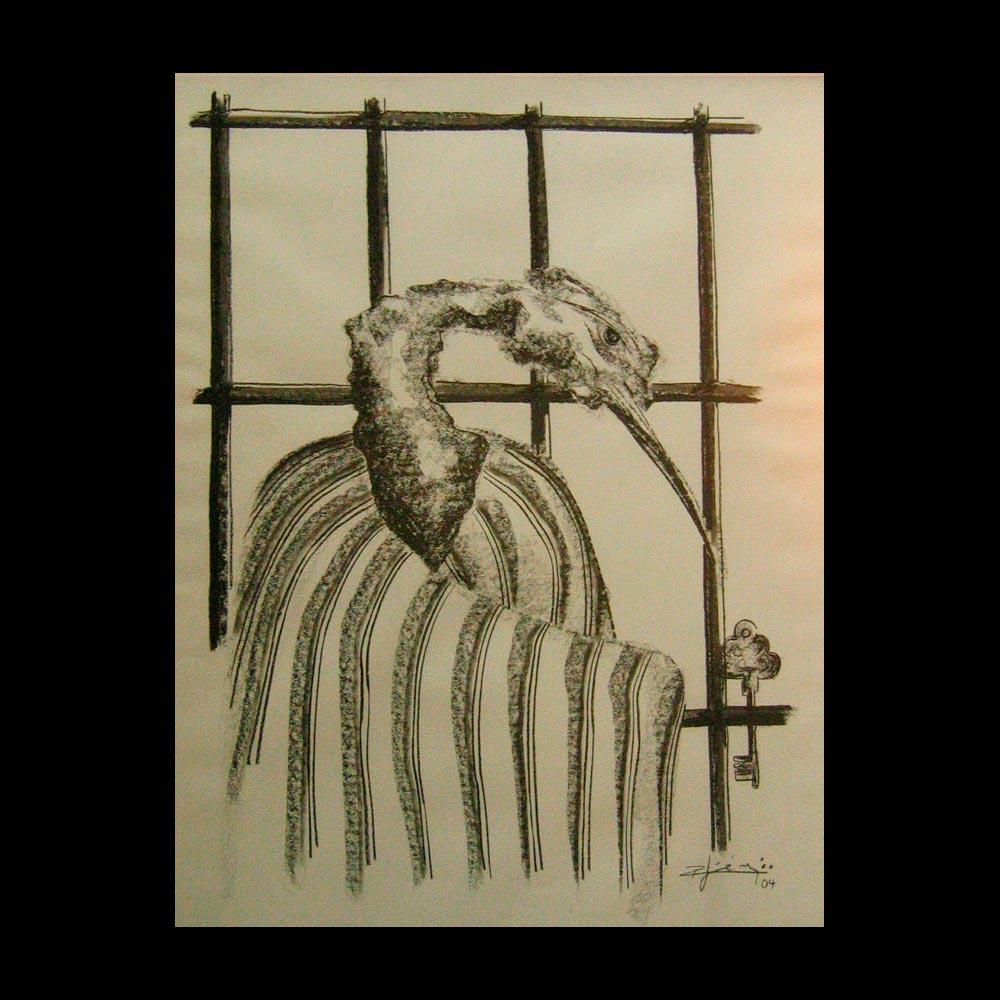 Dibujo Carboncillo 18 Liberfreeden Obra del Artista Roberto Jiménez