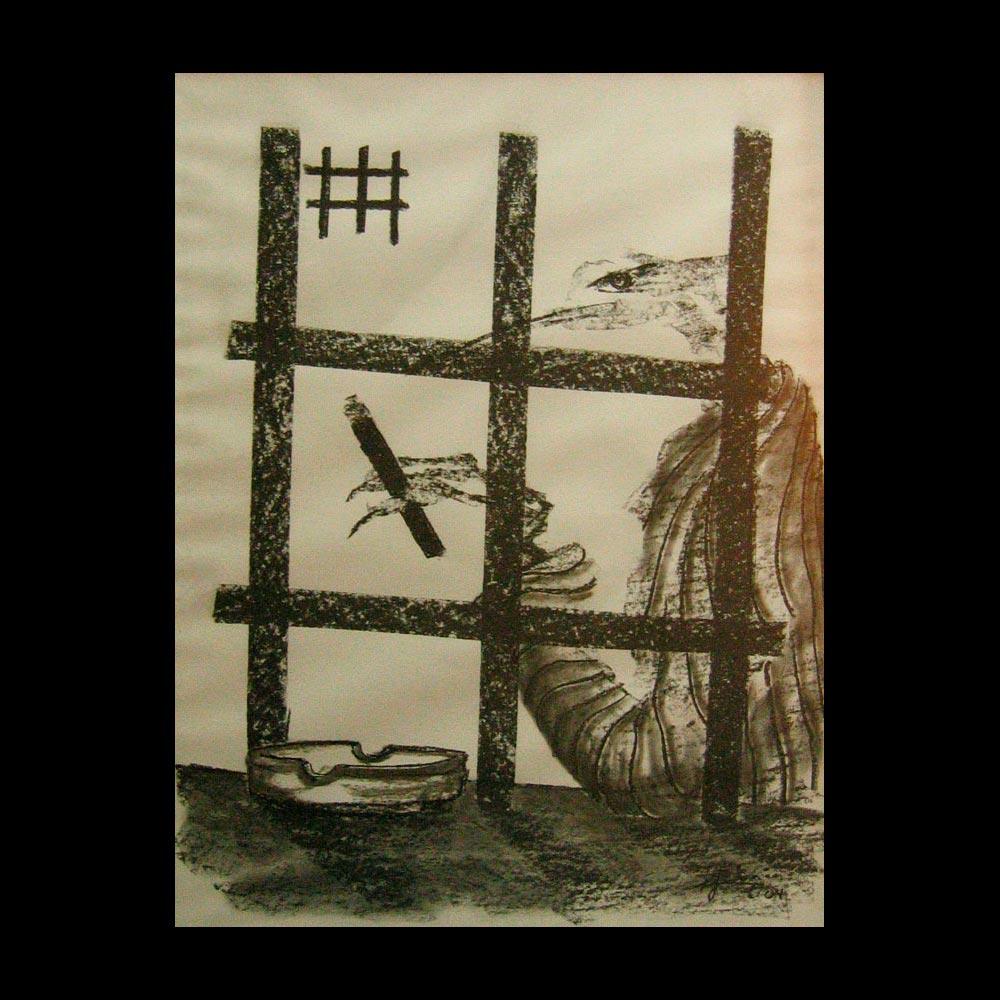 Dibujo Carboncillo 19 Liberfreeden Obra del Artista Roberto Jiménez