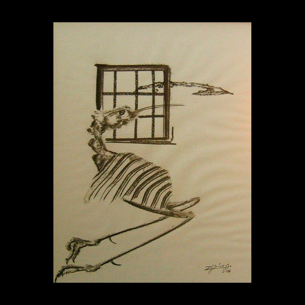 Dibujo Carboncillo 20 Liberfreeden Obra del Artista Roberto Jiménez