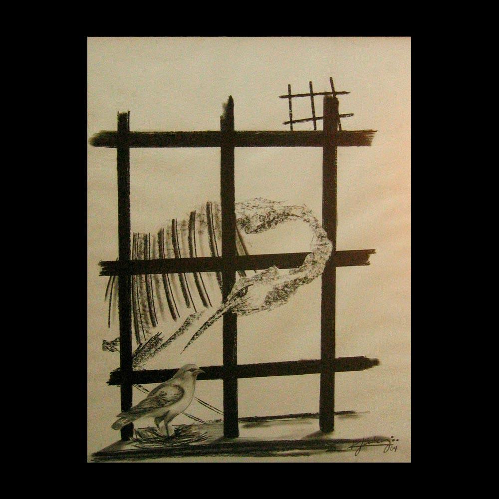 Dibujo Carboncillo 22 Liberfreeden Obra del Artista Roberto Jiménez
