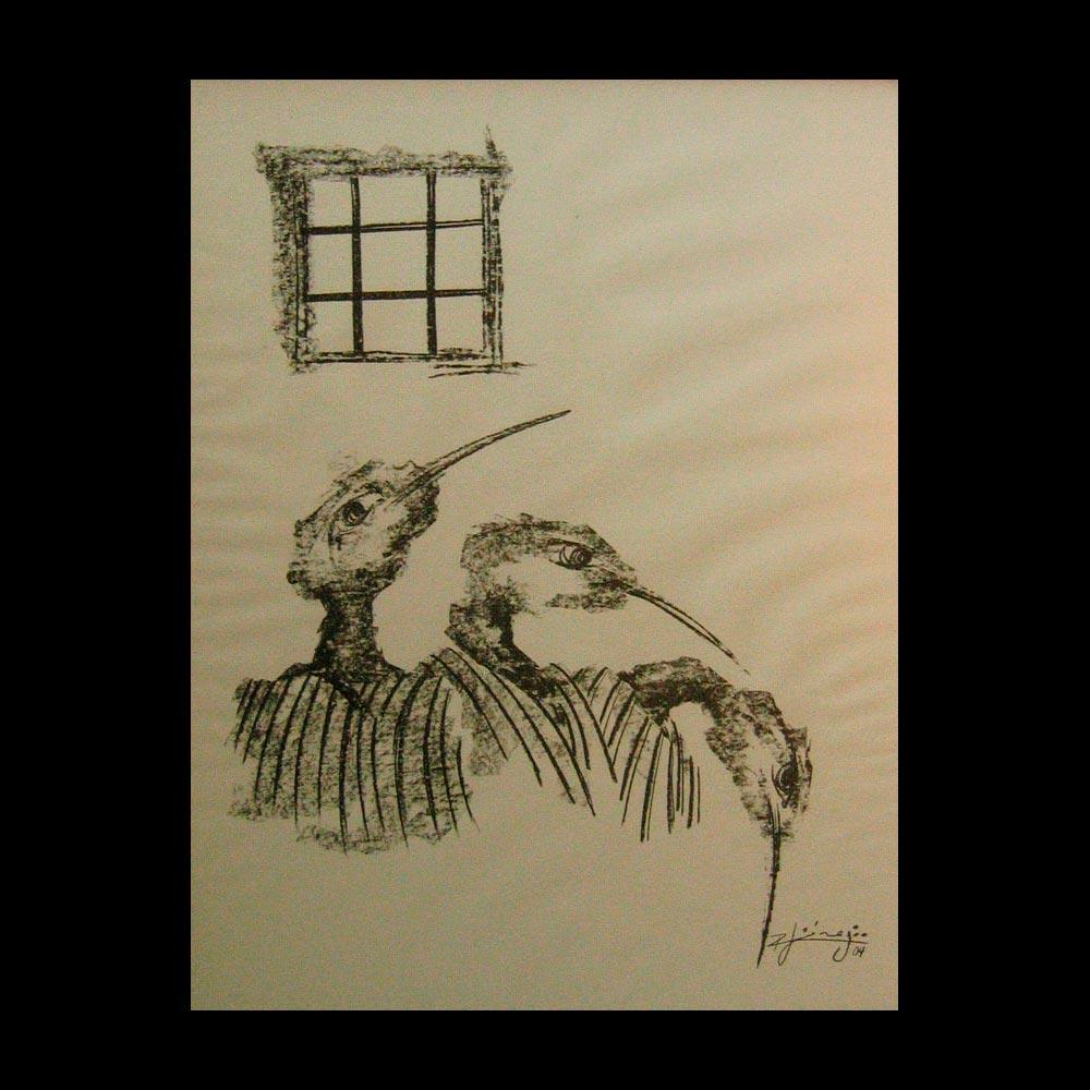 Dibujo Carboncillo 23 Liberfreeden Obra del Artista Roberto Jiménez