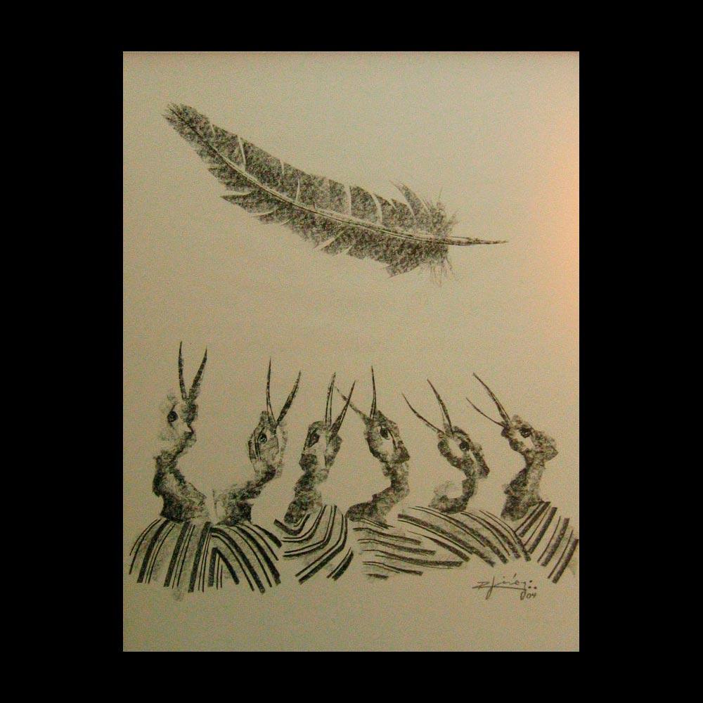 Dibujo Carboncillo 24 Liberfreeden Obra del Artista Roberto Jiménez