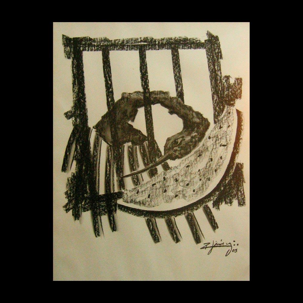 Dibujo Carboncillo 25 Liberfreeden Obra del Artista Roberto Jiménez