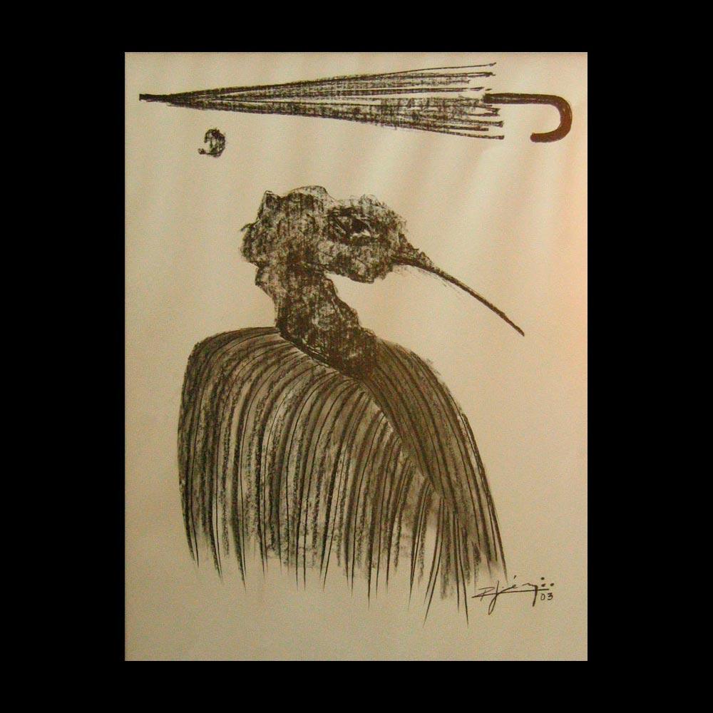 Dibujo Carboncillo 27 Liberfreeden Obra del Artista Roberto Jiménez