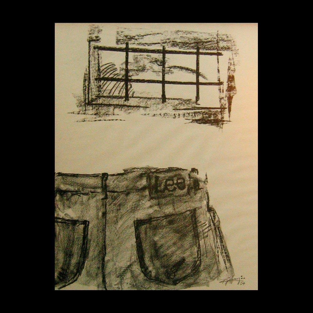 Dibujo Carboncillo 28 Obra del Artista Roberto Jiménez