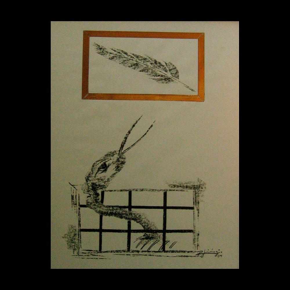 Dibujo Carboncillo 3 Liberfreeden Obra del Artista Roberto Jiménez