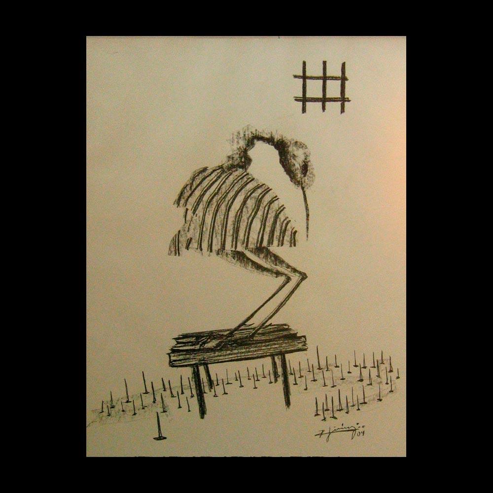 Dibujo Carboncillo 30 Liberfreeden Obra del Artista Roberto Jiménez