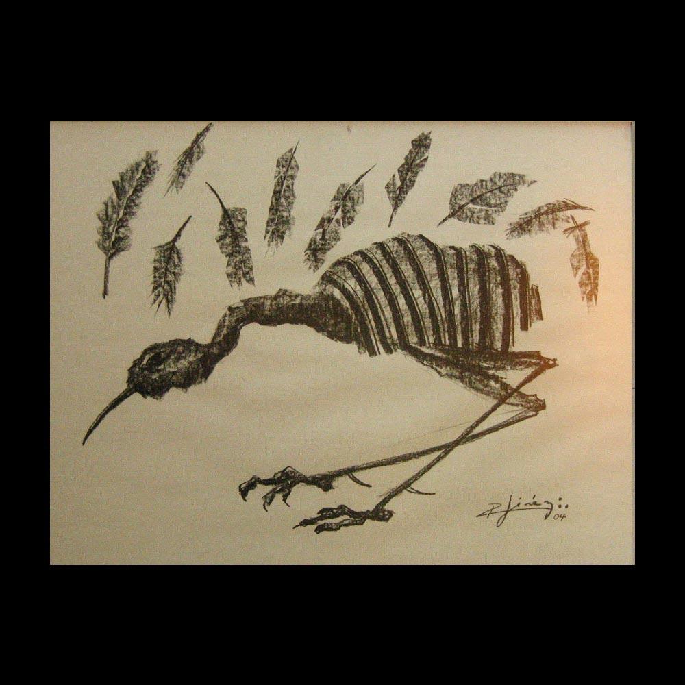 Dibujo Carboncillo 31 Liberfreeden Obra del Artista Roberto Jiménez