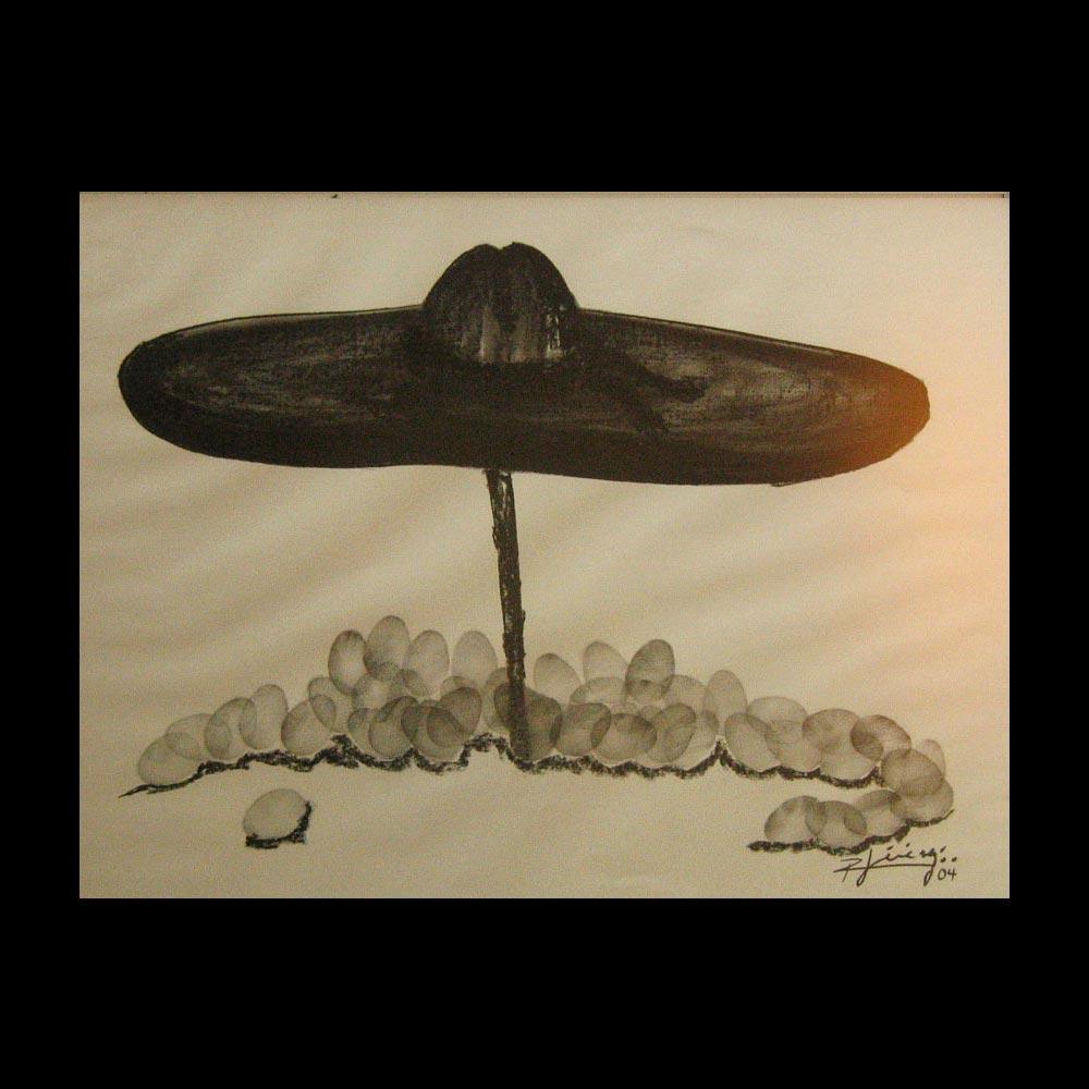Dibujo Carboncillo 32 Obra del Artista Roberto Jiménez