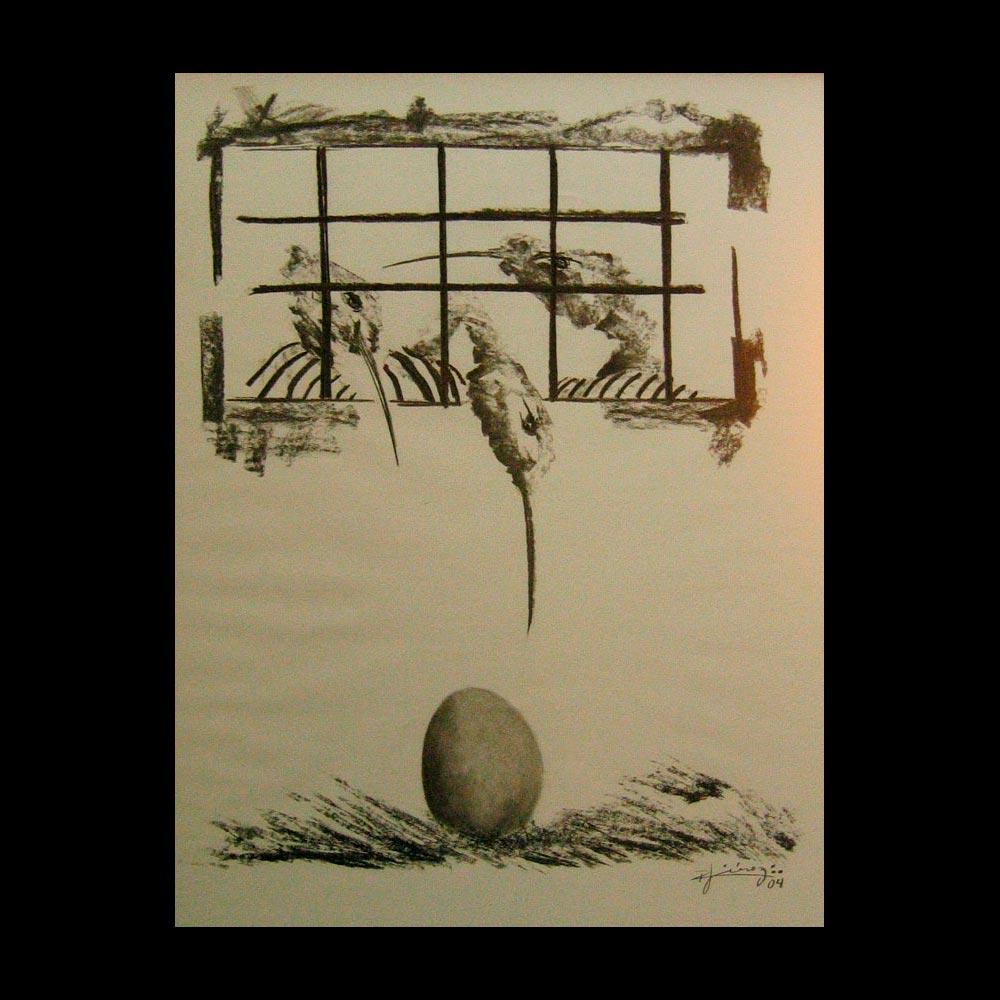 Dibujo Carboncillo 6 Liberfreeden Obra del Artista Roberto Jiménez