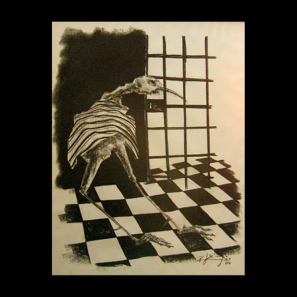 Dibujo Carboncillo 7 Liberfreeden Obra del Artista Roberto Jiménez