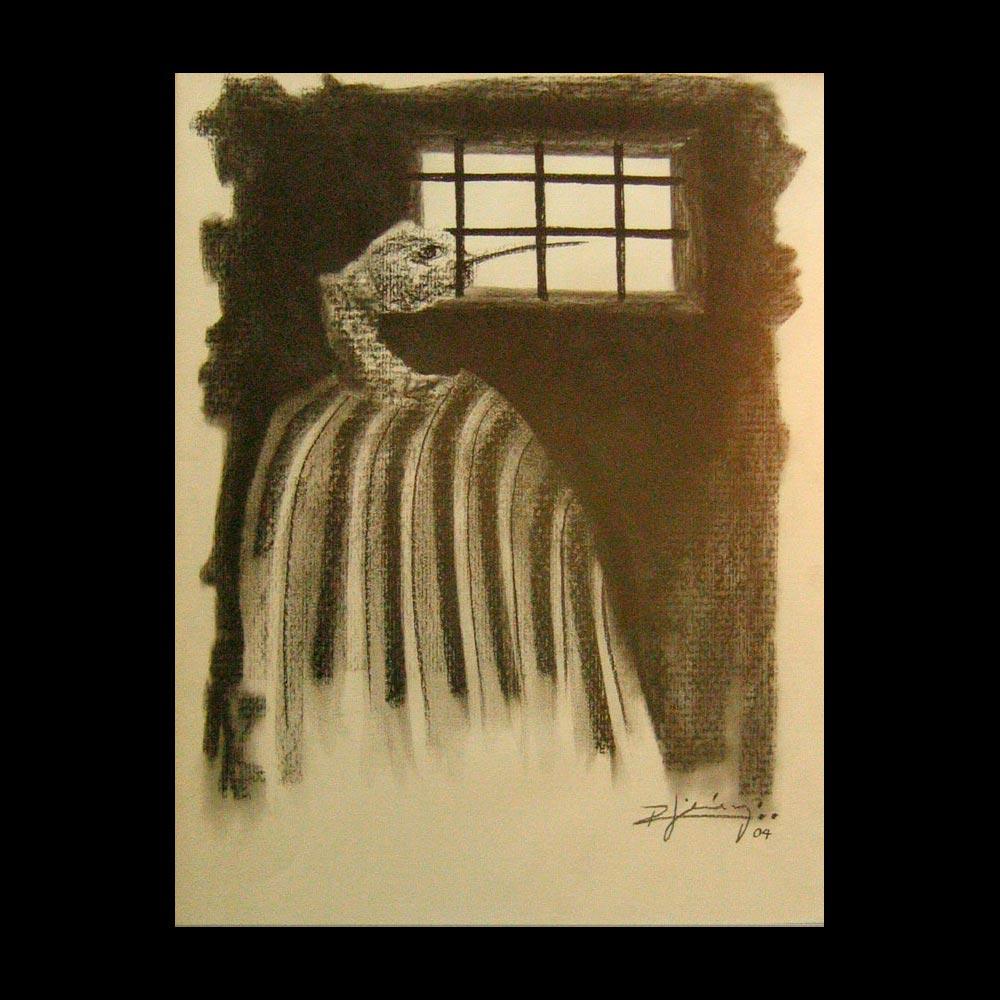 Dibujo Carboncillo 8 Liberfreeden Obra del Artista Roberto Jiménez