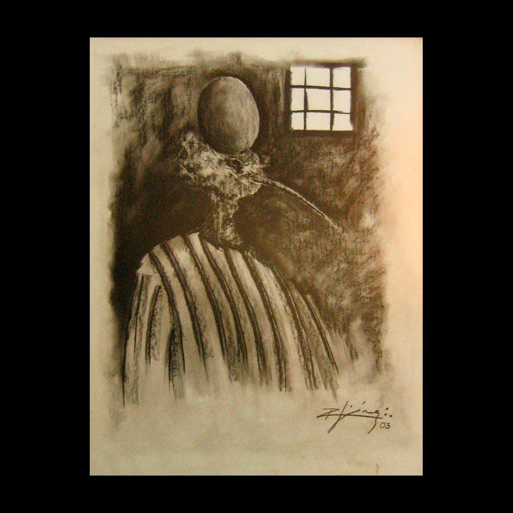 Dibujo Carboncillo 9 Liberfreeden Obra del Artista Roberto Jiménez