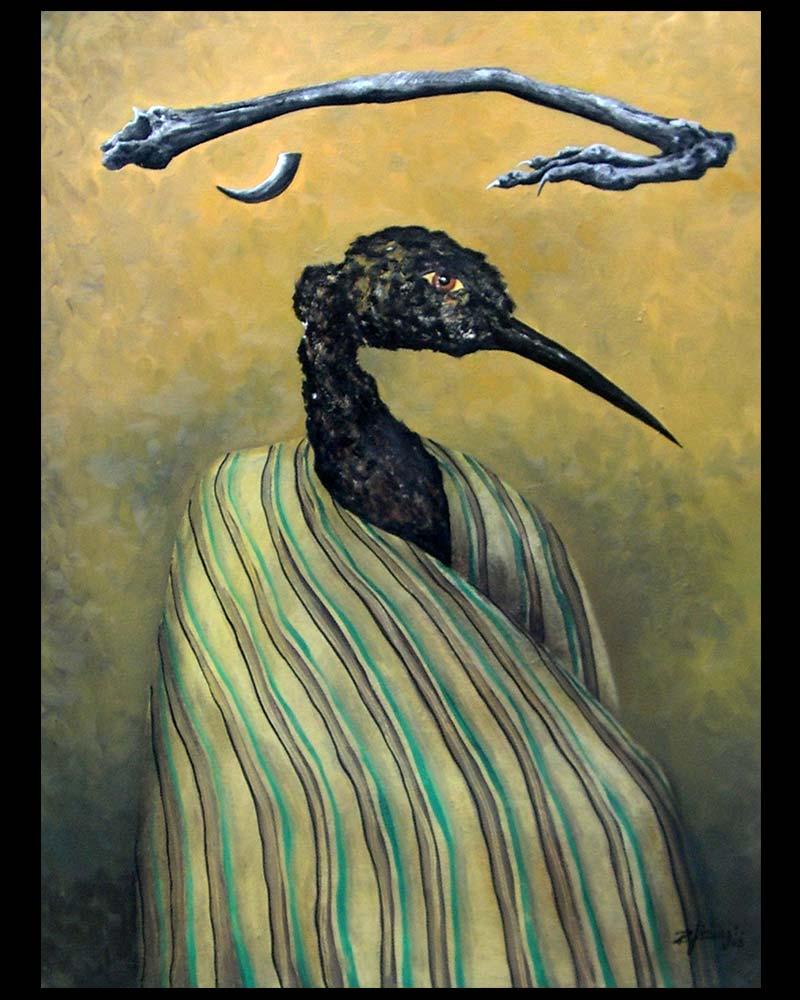 Obra La Huella que Inspira del Artista Plástico Roberto Jiménez Hidalgo