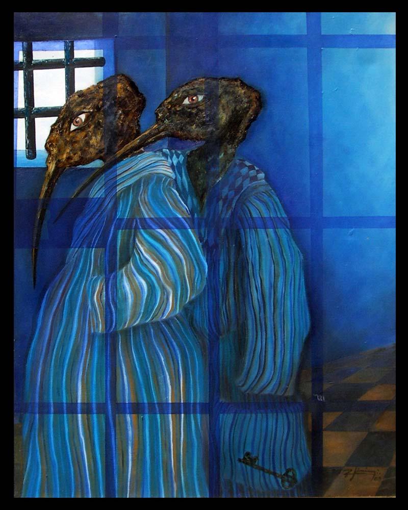 Obra Promesa Azul del Artista Plástico Roberto Jiménez Hidalgo