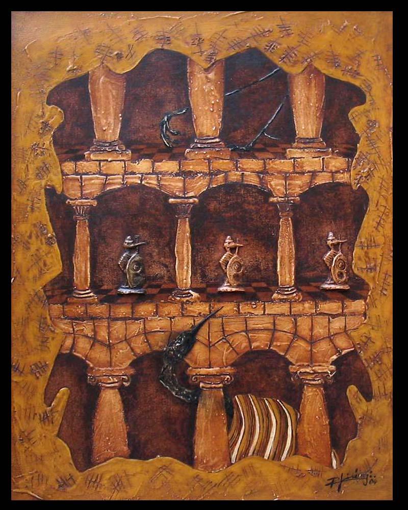 Artista Plástico Roberto Jiménez Hidalgo Obra Retablo de la Impaciencia 1