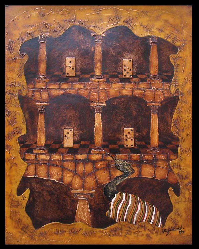 Artista Plástico Roberto Jiménez Hidalgo Obra Retablo de la Impaciencia 2