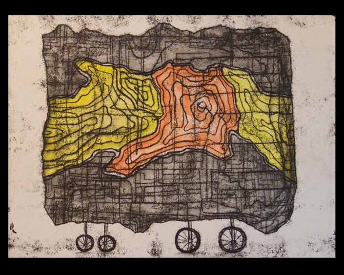 Monotipia Fragmento Móvil, Obra del
