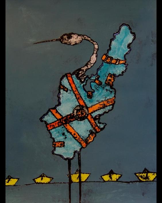 Monotipia Liberfreeden Holguinero, Obra del Artista Roberto Jiménez Hidalgo
