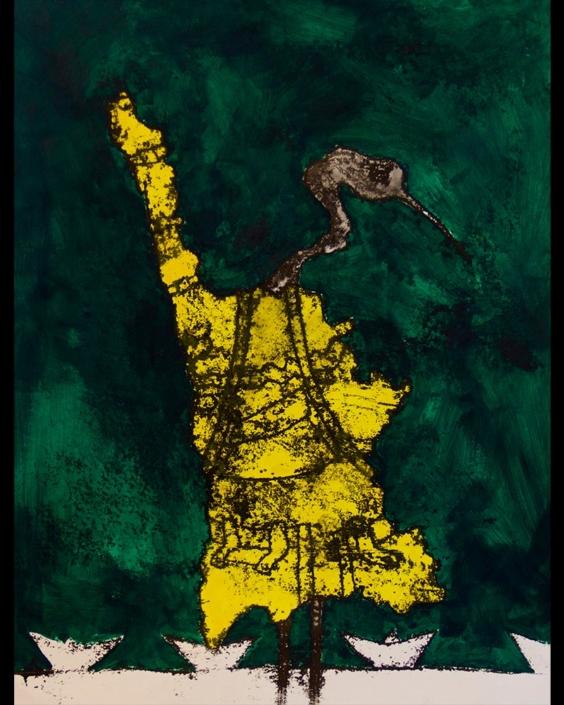 Monotipia Liberfreeden Santiaguero, Obra del Artista Roberto Jiménez Hidalgo
