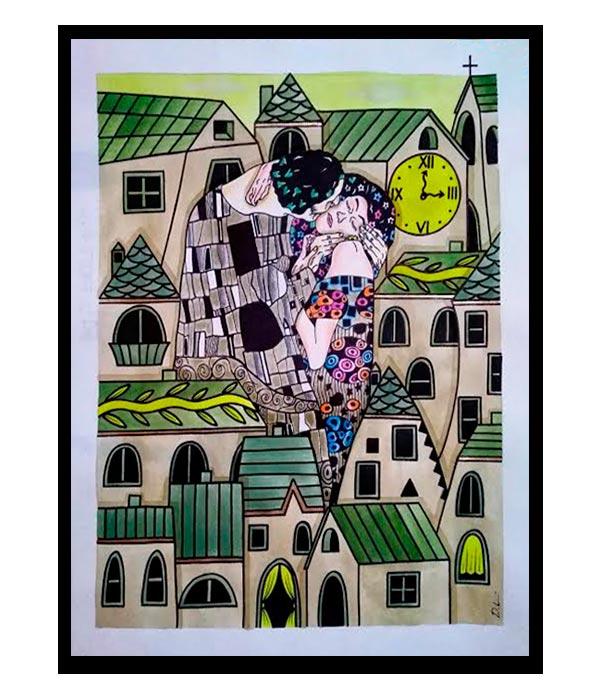 Obra, Nos vemos a las 3 en el pueblo, del Artista Davide Mantovani