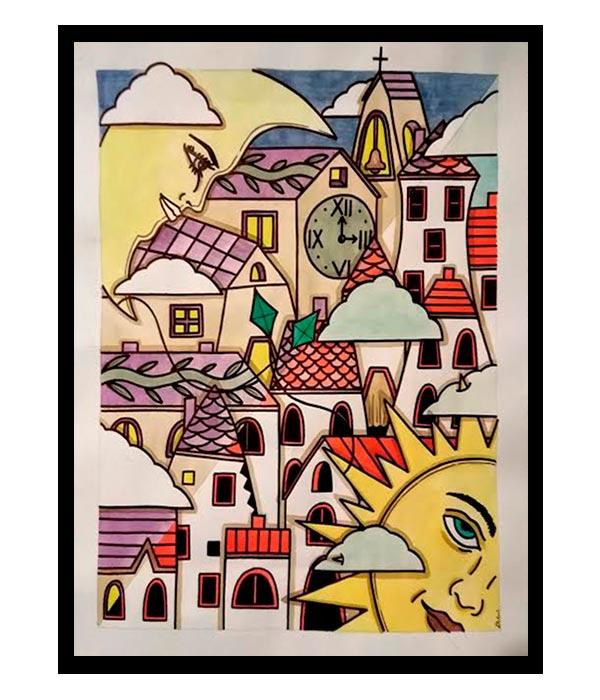 Obra, Amor Platónico, del Artista Davide Mantovani