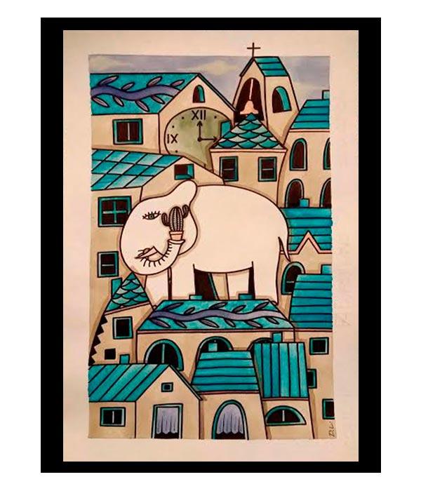 Obra, El Pequeño elefante, del Artista Davide Mantovani