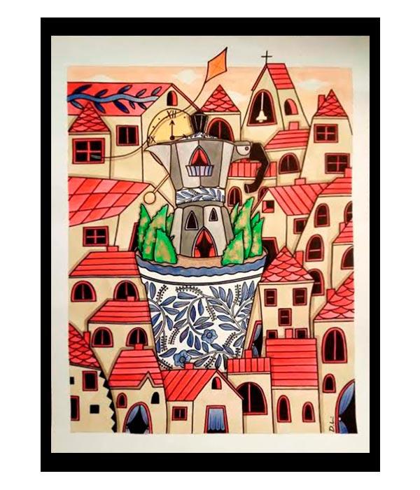 Obra, El Pueblo Talavera, del Artista Davide Mantovani