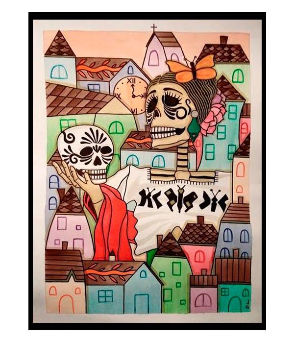 Obra La Señora del Pueblo 3, del Artista Davide Mantovani