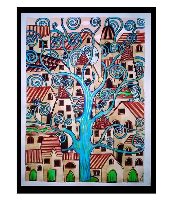 Obra, El árbol de la vida del Artista Davide Mantovani