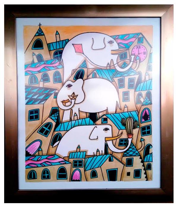 Obra El Gran Pueblo de los Elefantes, Davide Mantovani