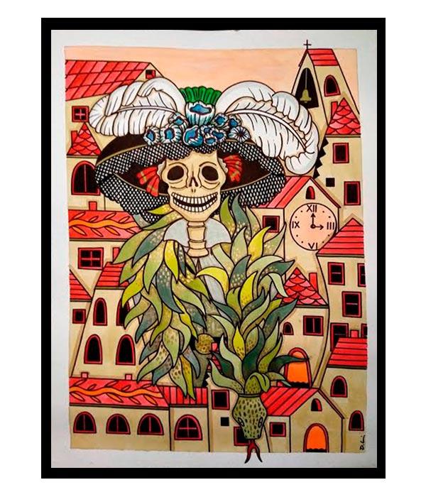 Obra La Señora del Pueblo 2, del Artista Davide Mantovani