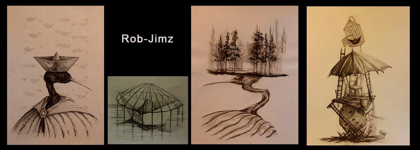 Dibujos y Bocetos del Artista Roberto Jiménez Hidalgo