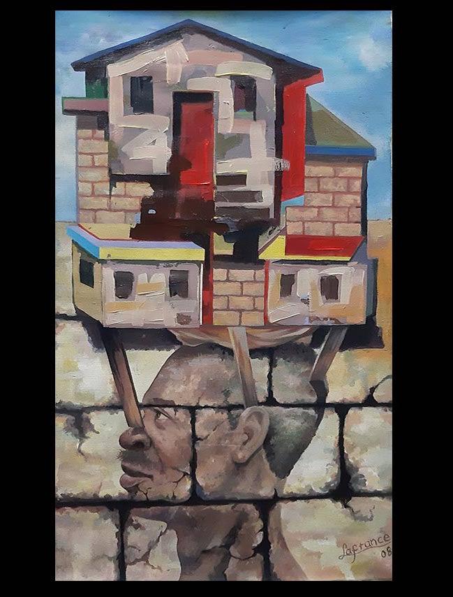 Obra El Equilibriesta, medidas 36 x 59 cm, del Artista Jabriel Lafrance Johnson