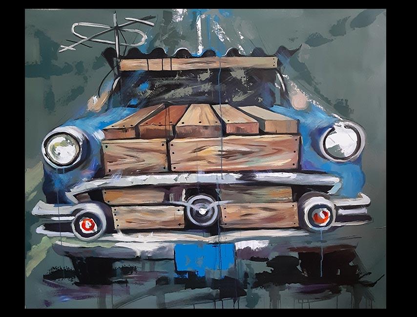 Obra Sin Título, medidas 120 x 142 cm, del Artista Jabriel Lafrance Johnson
