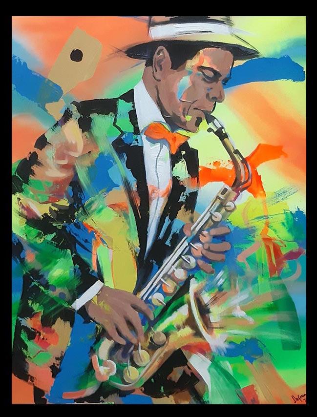 Obra Sin Título, medidas 70 x 56 cm, del Artista Jabriel Lafrance Johnson
