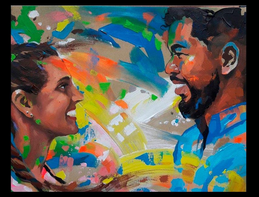 Obra Sin Título, medidas 60 x 40 cm del Artista Jabriel Lafrance Johnson