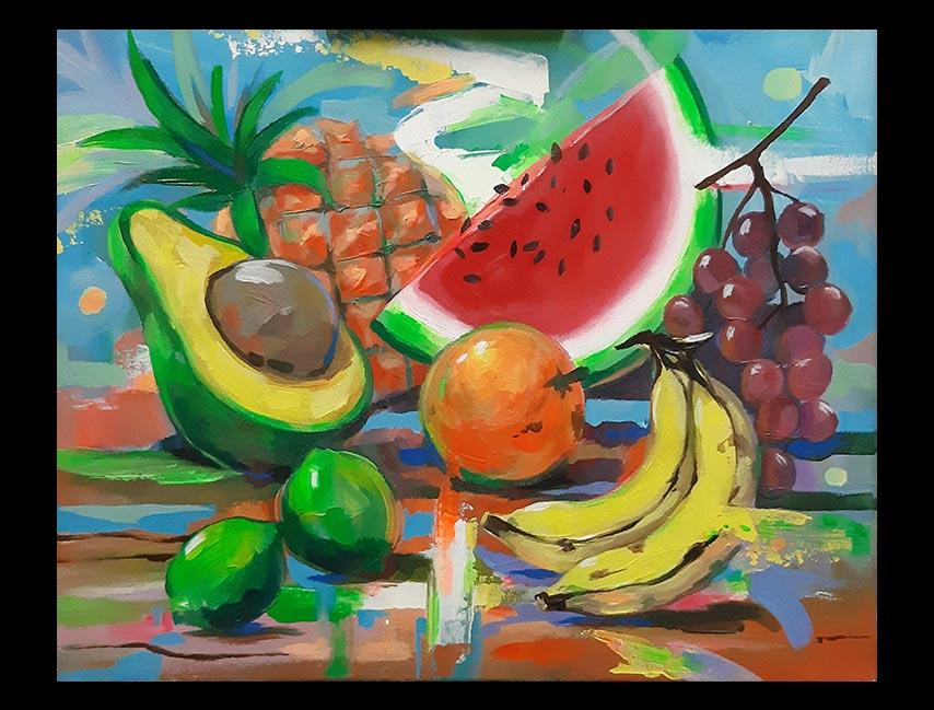 Obra Sin Título medidas 40 x 50 cm del Artista Jabriel Lafrance Johnson
