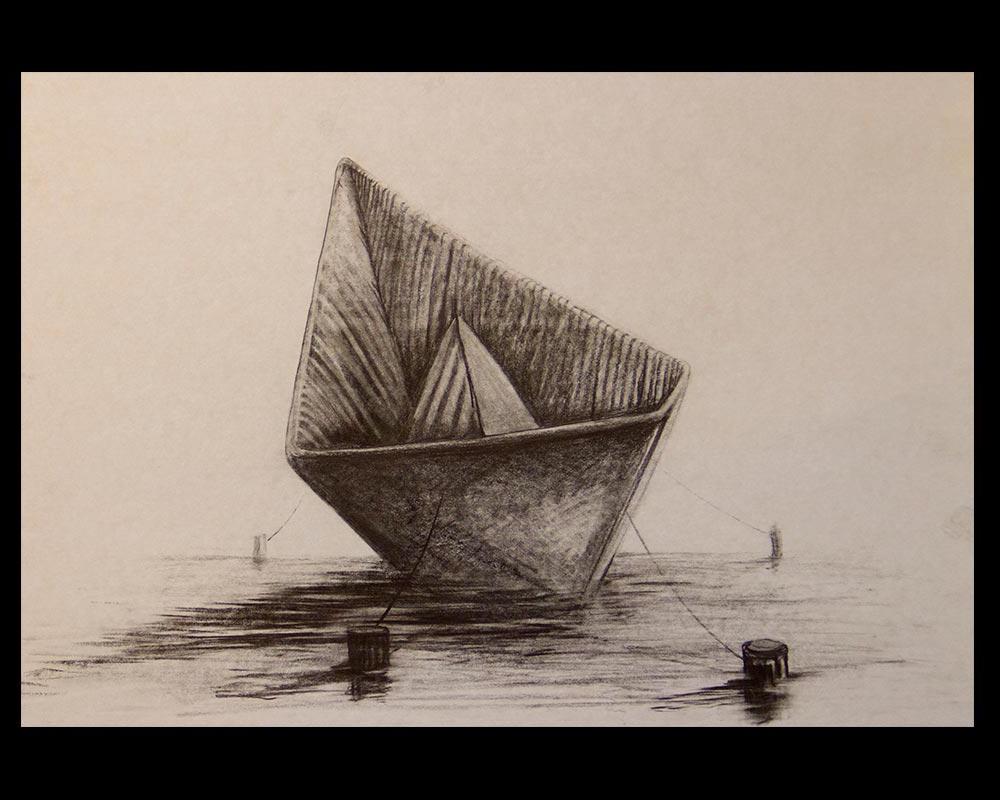 Obra, En tiempos de Marea Alta del Artista Roberto Jiménez Hidalgo